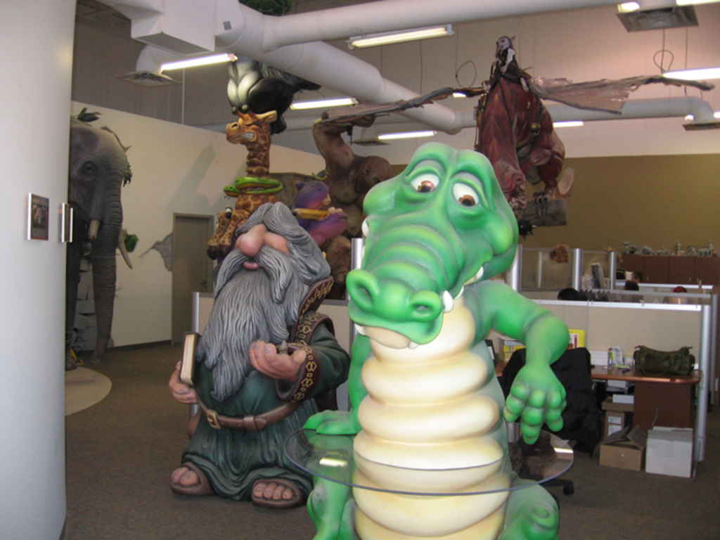 Troll and Alligator Movie Prop