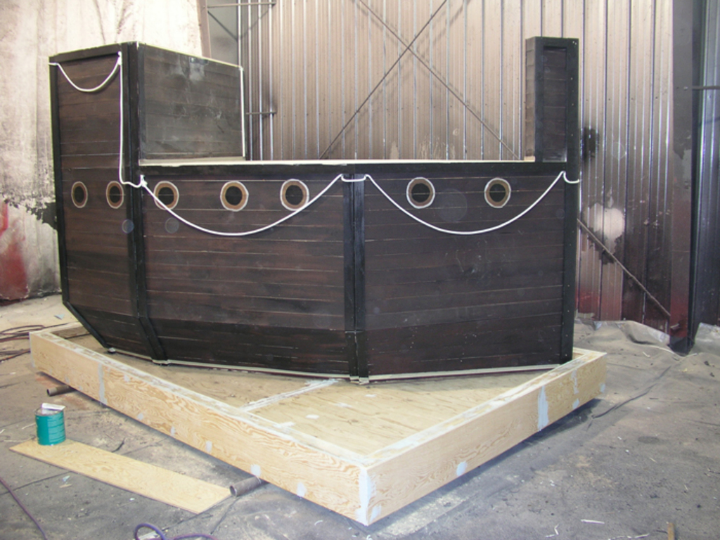 Pirate Ship Before LINE-X Flooring 2